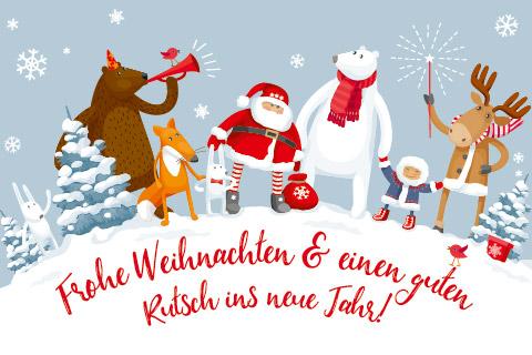 Frohe Weihnachten Guten Rutsch Ins Neue Jahr.Frohe Weihnachten Und Einen Guten Rutsch Ins Neue Jahr 2019